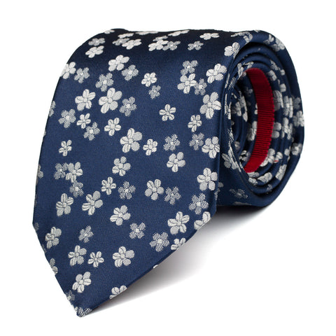 LITHE - Jacquard silk tie with initials - The Seëlk - 1