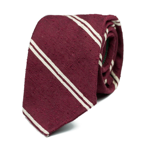 LONGKOU - Shantung silk tie with initials - The Seëlk - 1