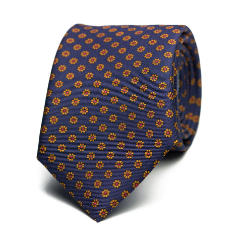 MANSARDA - Printed silk tie with initials - The Seëlk - 1