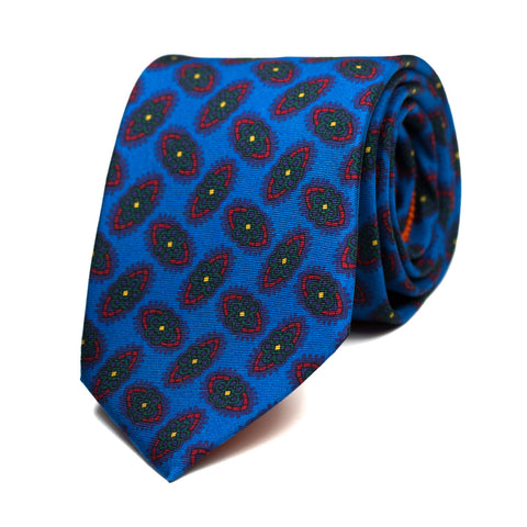 MARGOULETTE - Printed silk tie with initials - The Seëlk - 1