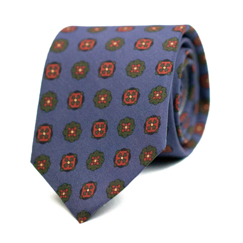 MÉPHISTOPHÉLIQUE - Printed silk tie with initials - The Seëlk - 1