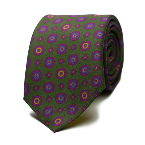 MISACANTANO - Printed silk tie with initials - The Seëlk - 1