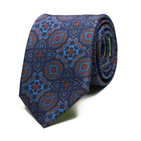 MISOFONÍA - Ancient Madder silk tie with initials - The Seëlk - 1
