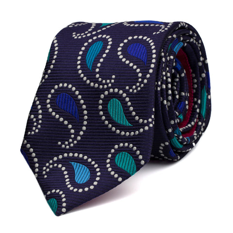 MURMUROUS - Jacquard silk tie with initials - The Seëlk - 1