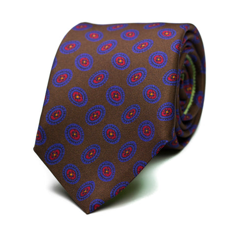 NADIR - Printed silk tie with initials - The Seëlk - 1