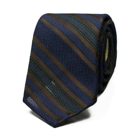 NARILA - Grenadine silk tie with initials - The Seëlk - 1
