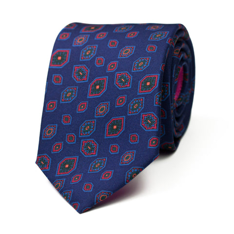 NEURASTENIA - Ancient Madder silk tie with initials - The Seëlk - 1