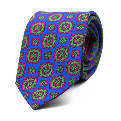 NITESCENT - Printed silk tie with initials - The Seëlk - 1