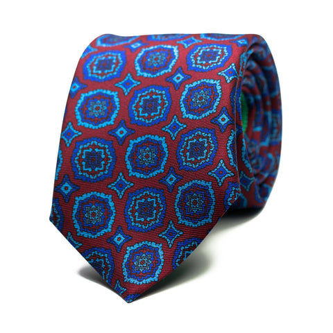 OBLONGO - Printed silk tie with initials - The Seëlk - 1