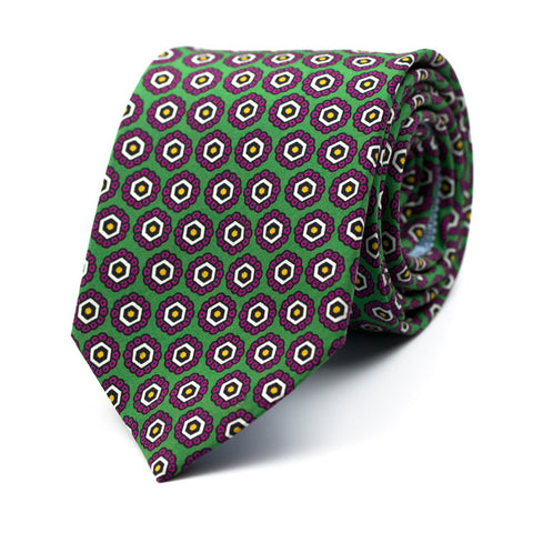 OBSIDIONAL - Printed silk tie with initials - The Seëlk - 1