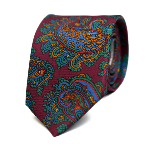 ODALISQUE - Printed silk tie with initials - The Seëlk - 1