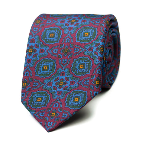 ORATE - Printed silk tie with initials - The Seëlk - 1
