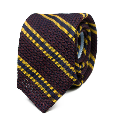 PADUL - Grenadine silk tie with initials - The Seëlk - 1