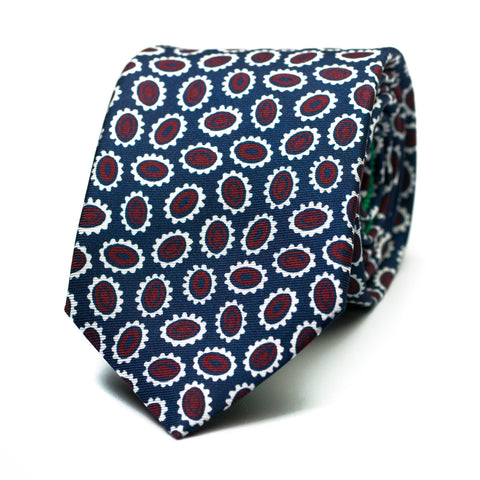 PAMPLEMOUSSE - Printed silk tie with initials - The Seëlk - 1