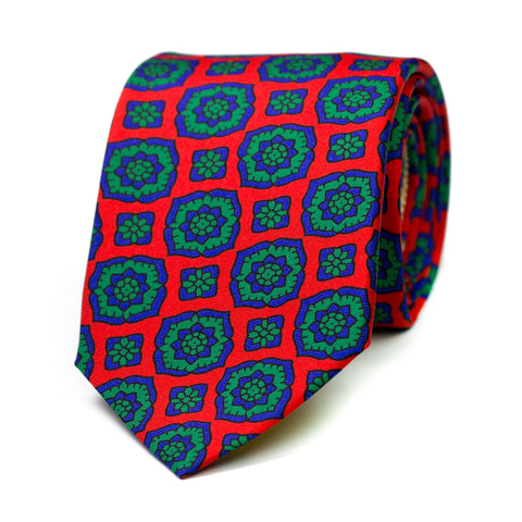 PERSICOT - Printed silk tie with initials - The Seëlk - 1