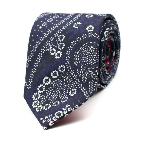 PERS - Printed silk tie with initials - The Seëlk - 1