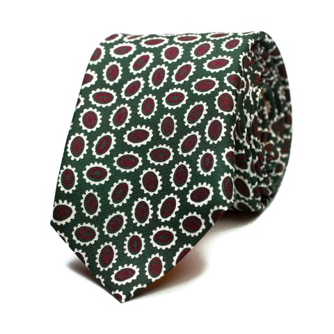 PETIMETRE - Printed silk tie with initials - The Seëlk - 1