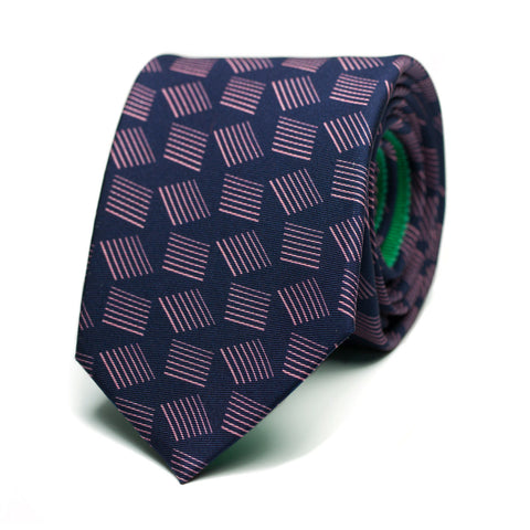 PISSENLIT - Printed Silk tie with initials - The Seëlk - 1