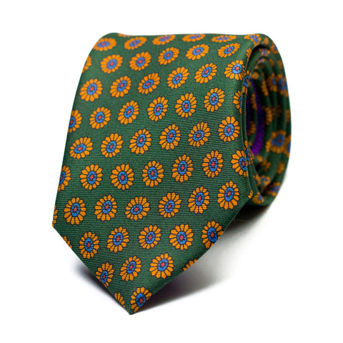 PRÍSTINO - Printed silk tie with initials - The Seëlk - 1