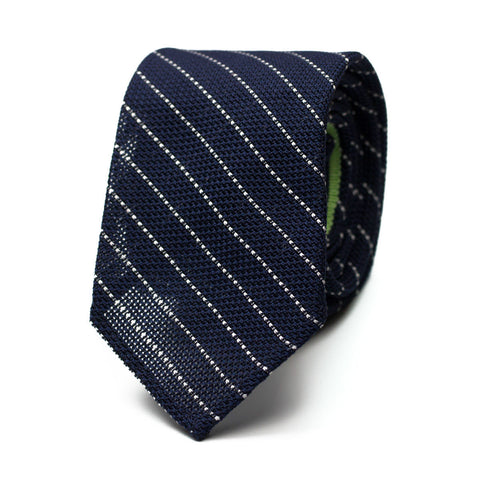 PURCHIL - Grenadine silk tie with initials - The Seëlk - 1