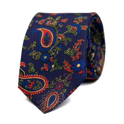 QUINE - Printed silk tie with initials - The Seëlk - 1