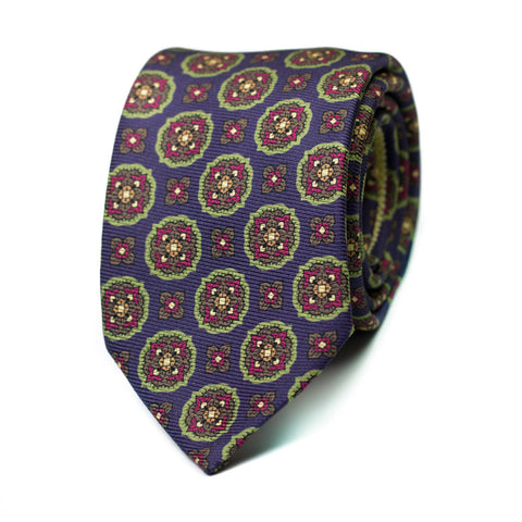 RAVAUDER - Printed silk tie with initials - The Seëlk - 1