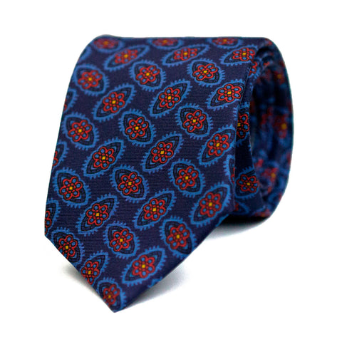 RODOMONTADE - Printed silk tie with initials - The Seëlk - 1