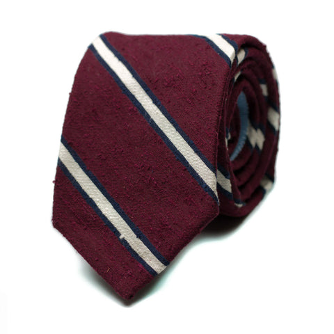 RUSHAN - Shantung Grenadine silk tie with initials - The Seëlk - 1