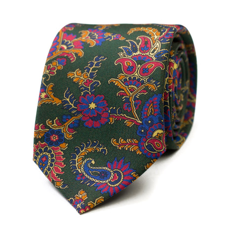 SAPENCO - Printed silk tie with initials - The Seëlk - 1