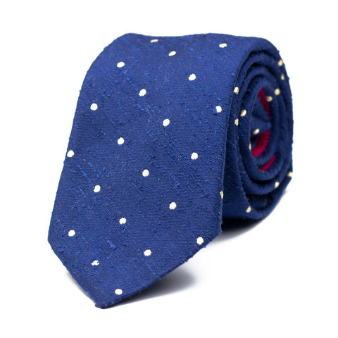 SHANXIAN - Shantung silk tie with initials - The Seëlk - 1