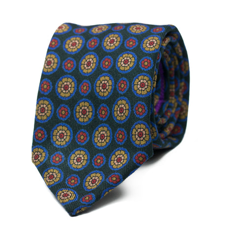 SMARGIASSO - Wool tie with initials - The Seëlk