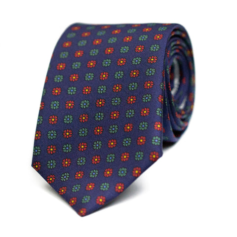 SUPERFÉTATOIRE - Printed silk tie with initials - The Seëlk - 1