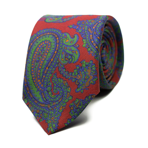 THÉBAÏDE - Printed silk tie with initials - The Seëlk - 1