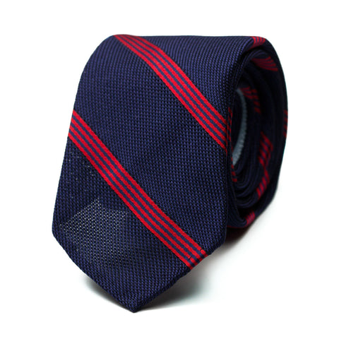 TORRECARDELA - Grenadine silk tie with initials - The Seëlk - 1