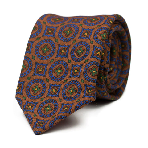 UFFA - Wool tie with initials - The Seëlk