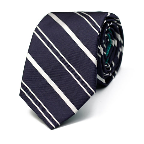 VERTICAL HORIZON - Jacquard silk tie with initials - The Seëlk - 1