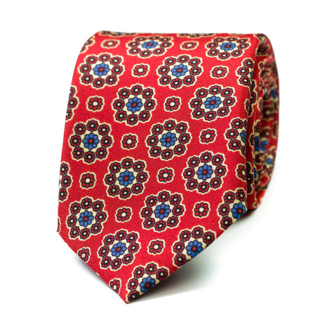VITUPERIO - Printed silk tie with initials - The Seëlk - 1