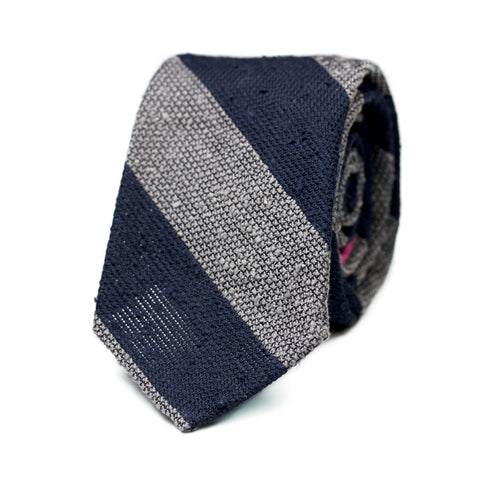 ZIBO - Shantung silk tie with initials - The Seëlk - 1