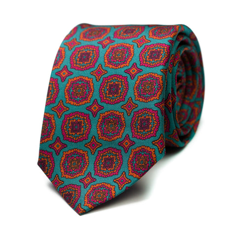 ZONZO - Printed silk tie with initials - The Seëlk - 1