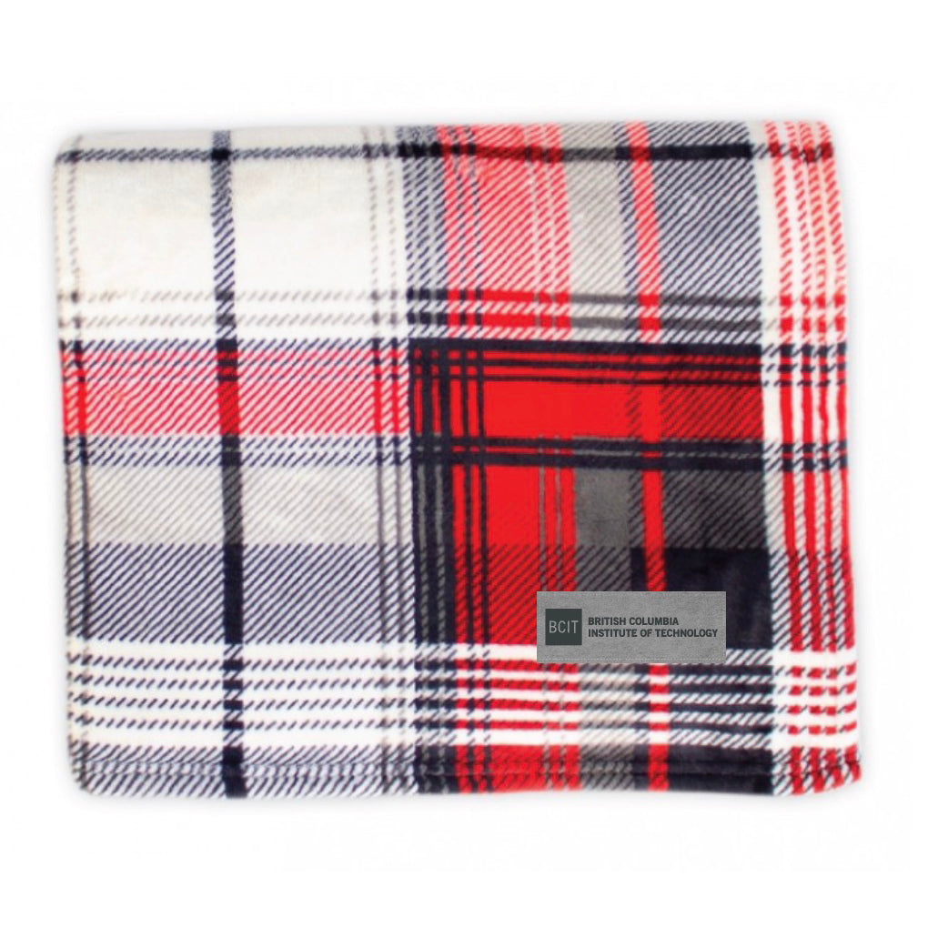 SALE 25% off   BCIT Classic Plaid Throw Red