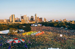Overlooking view of ACL in Austin, Texas