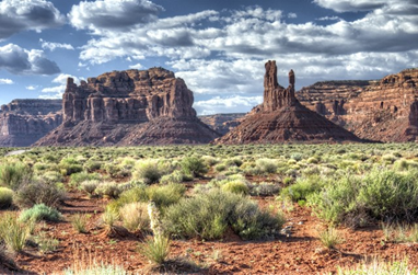 Beautiful view of the Valley of the Gods trail in South East Utah.