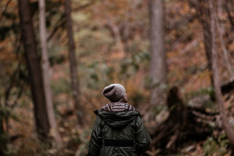 Girl hiking in the forrest!