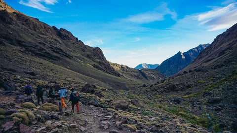 Group of hikers exploring the African mountains.