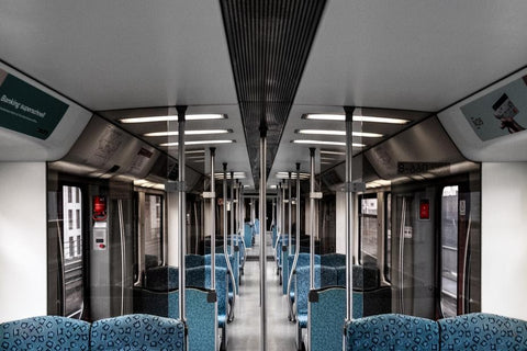 Interior view of the subway