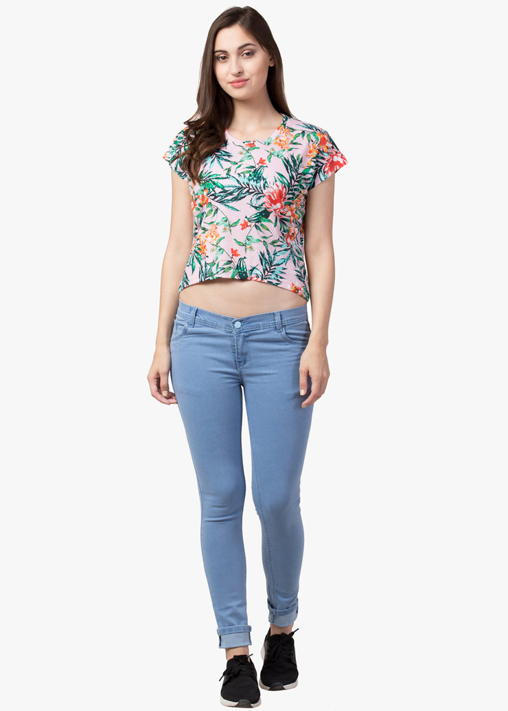 Printed Crop Top#1