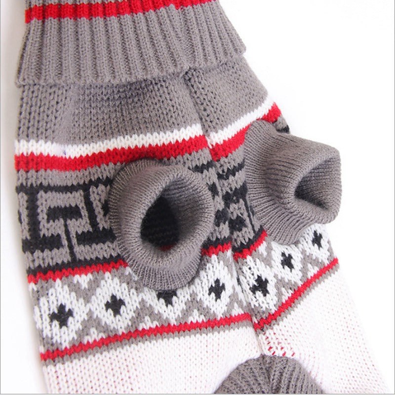 Christmas Sweater Warm Pets Clothes
