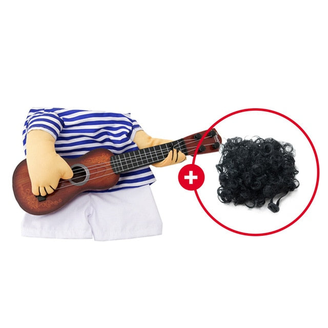Funny Guitar Player Cosplay Pet Costume