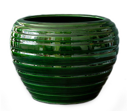 Honey Green Glazed Vase