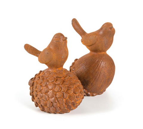 Cast Iron Birds on Acorn